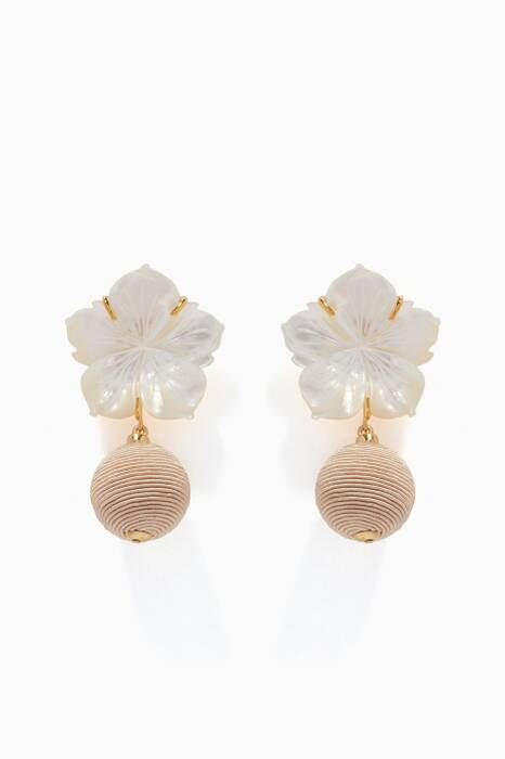 White Paper Drop Earrings