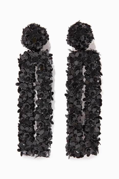 Black Fleur Dawn Earrings