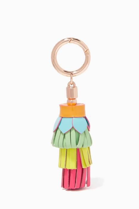 Multi-Coloured Flower Bag Charm