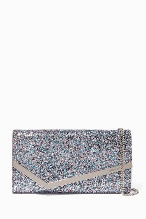 Bubblegum Mix Medium Emmie Coarse Glitter Clutch