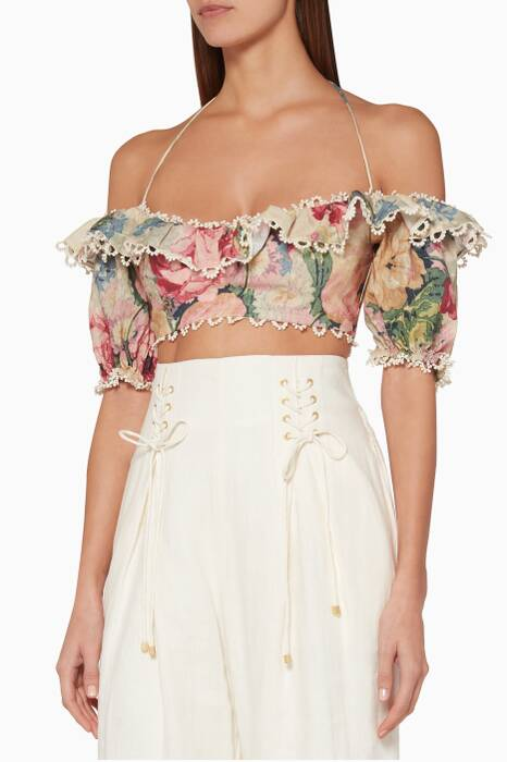 Multi-Coloured Melody Off-The-Shoulder Top