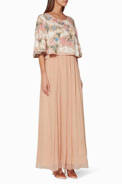 Beige Maeve Embroidered Dress