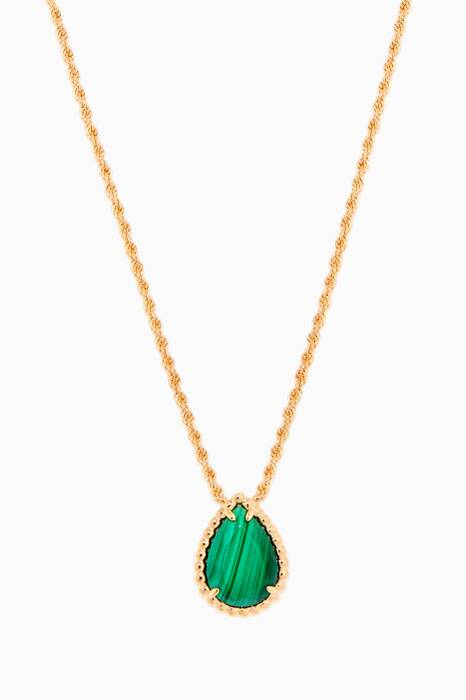 Yellow-Gold & Malachite Small Serpent Bohème Necklace