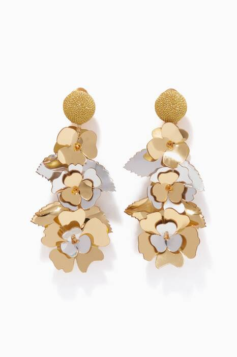 Gold Climbing Flower Earrings