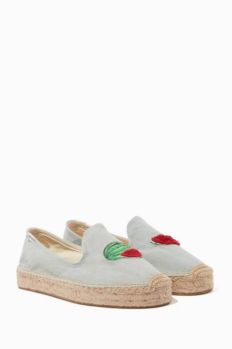 Light-Blue Watermelon Smoking Slippers