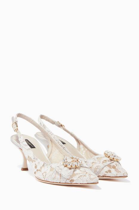 Ice-White Lace Lori 60 Pumps