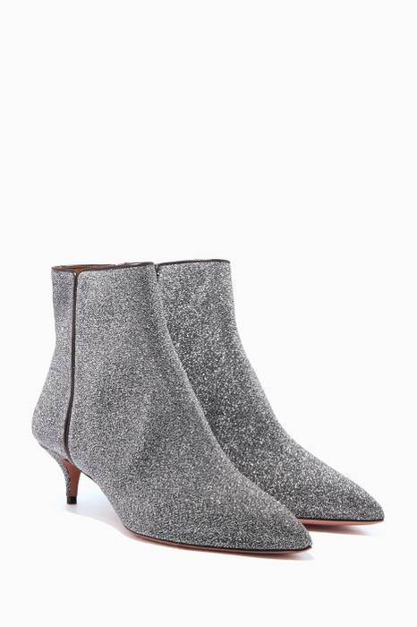 Silver Lurex Quant Booties