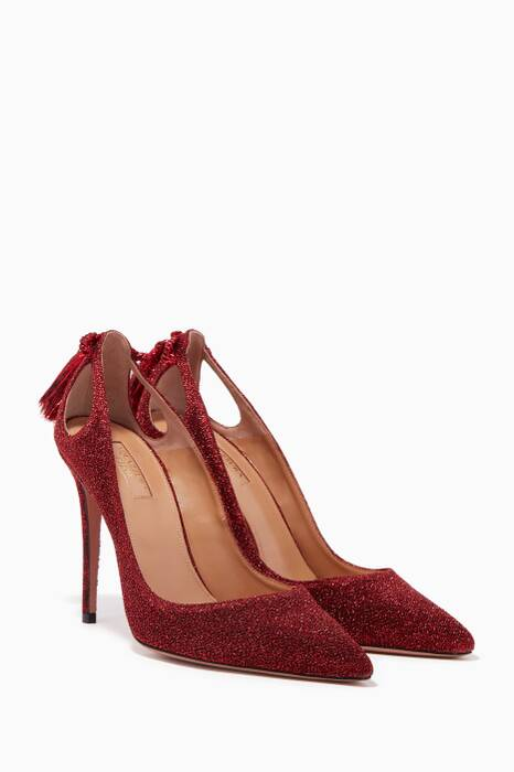 Red Lurex Forever Marilyn Pumps