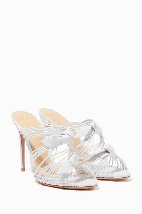 White Alexandre Birman Dallas Strappy Mules