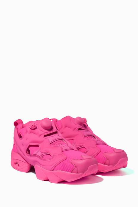 Vetements X Reebok Fluorescent-Pink Instapump Fury Sneakers