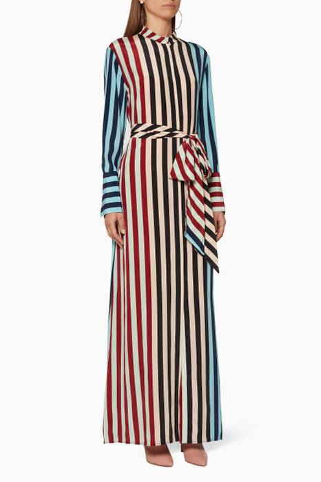 Multi-Coloured Carrington-Striped Shirt Dress