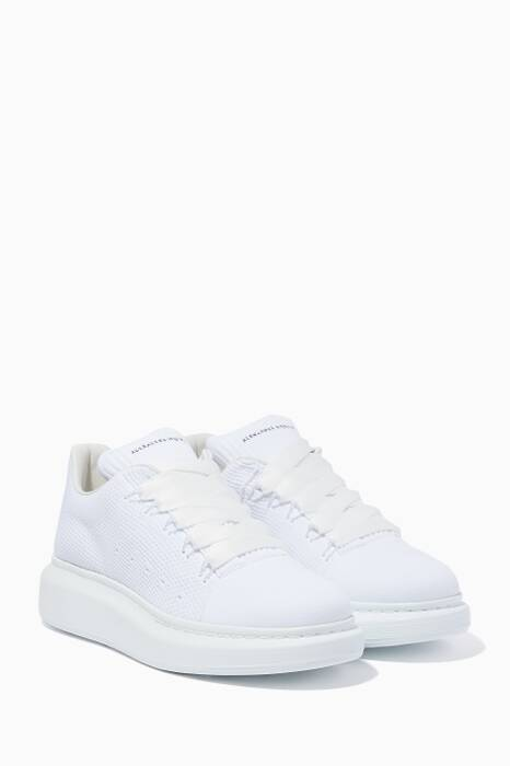 White Knitted Oversized Sneakers