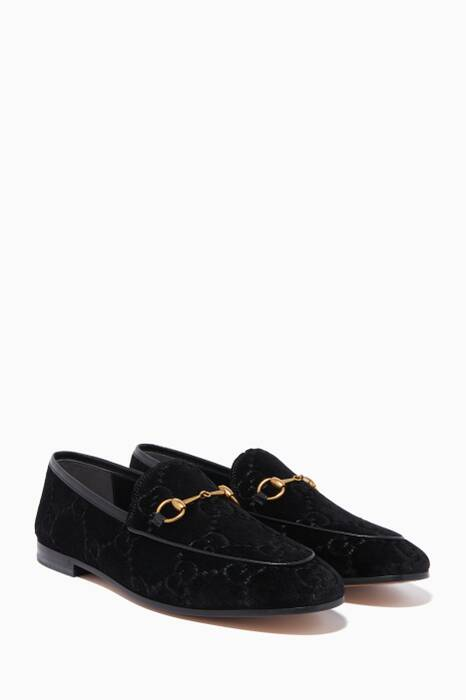 Black Jordaan Velvet GG Loafers