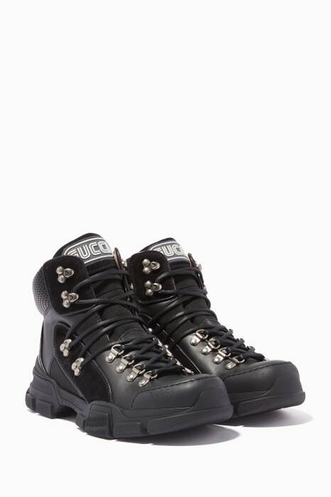 Black Flashtrek High-Top Sneakers