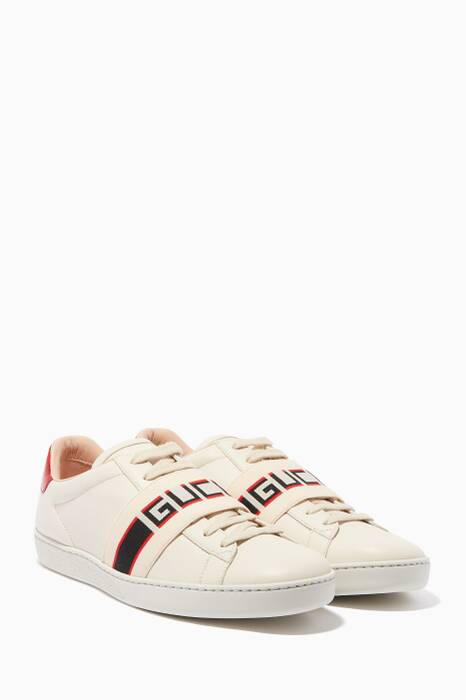 White New Ace Low-Top Sneakers