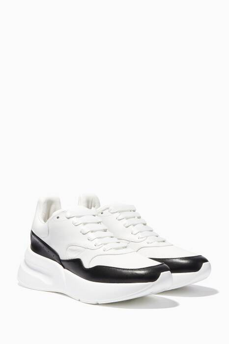 White Bi-Colour Larry Runner Sneakers