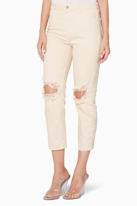 Light-Pink Audrina Distressed Jeans