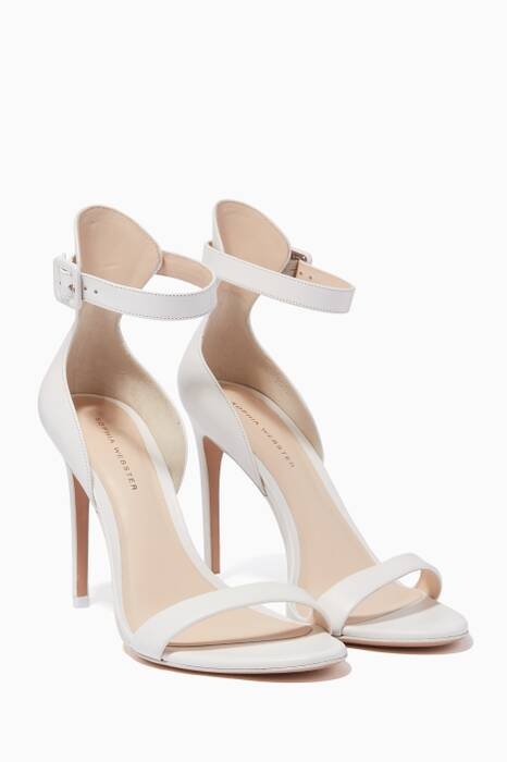 White Leather Nicole Sandals