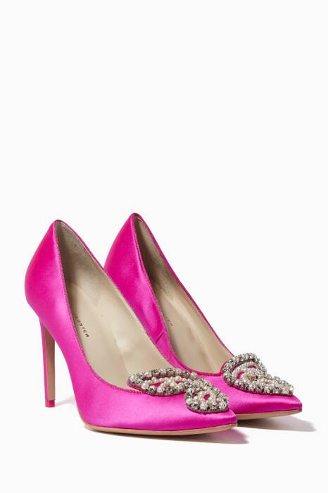 Fuchsia Embellished Bibi Butterfly Pumps