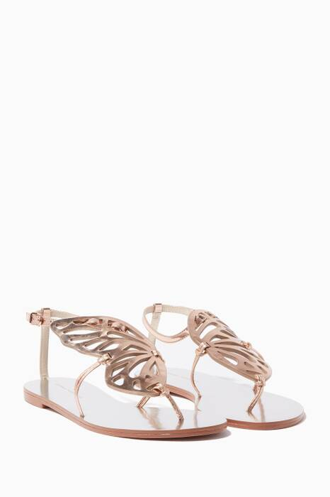 Rose-Gold Bibi Butterfly Sandals