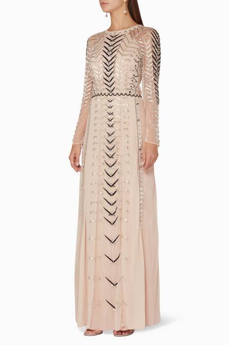Almond-Beige Wild Life Dress