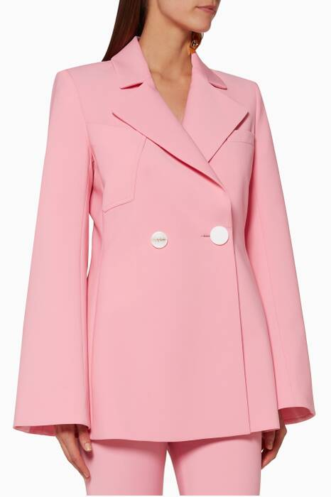 Pink Flared-Sleeve Calling Card Jacket