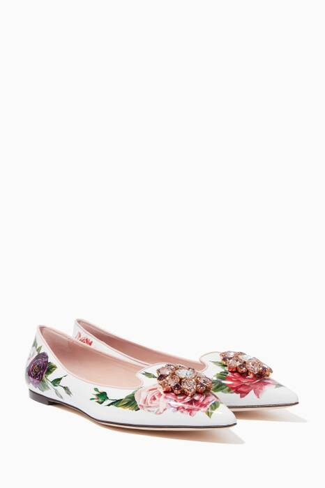 Peony-Pink Bellucci Point-Toe Ballerina Flats