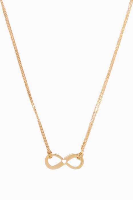 Yellow-Gold Little Hearts Infinity Necklace