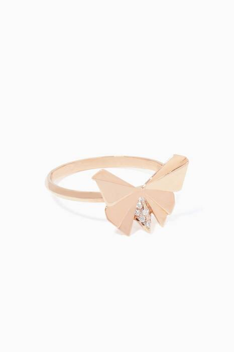 Rose-Gold Geogami Butterfly Ring