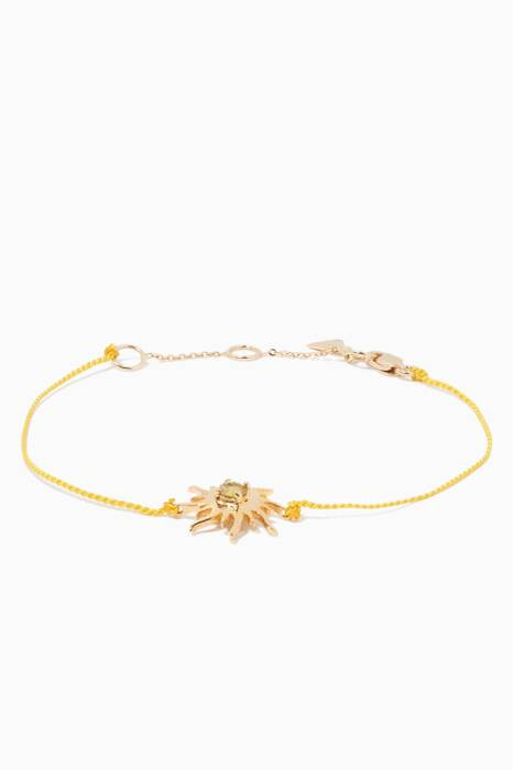 Yellow-Gold Sun Floating Gems Bracelet