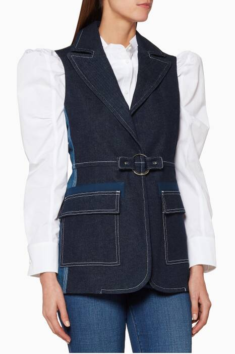 Ultramarine Denim Sleeveless Jacket