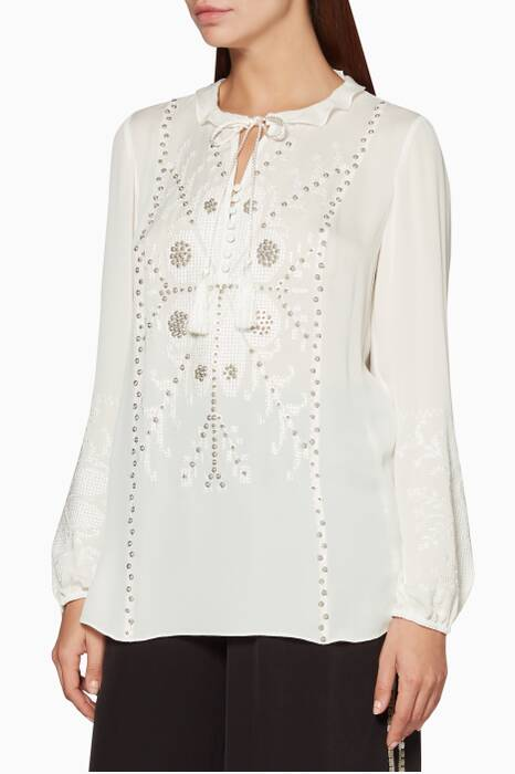 Ivory Embroidered Madelina Blouse