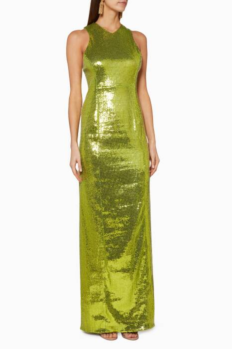Chartreuse-Green Reflection Gown