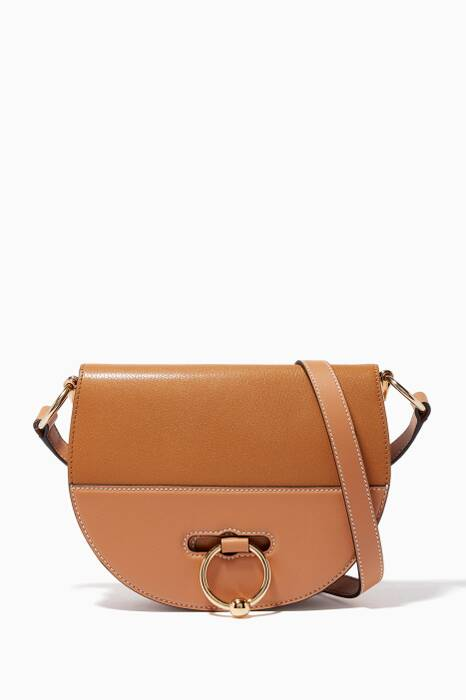 Chestnut Latch Cross-Body Bag