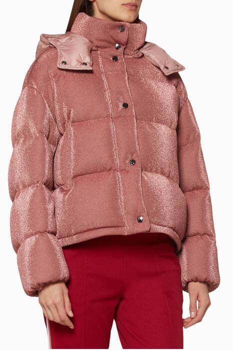 Pink Hooded Caille Jacket