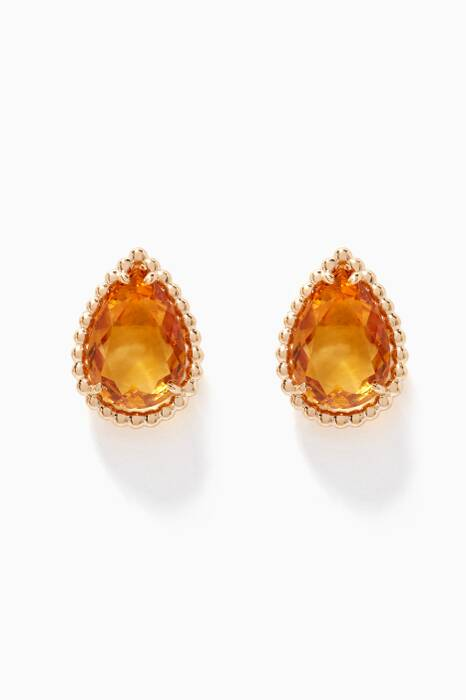 Yellow-Gold & Citrine Stud Earrings