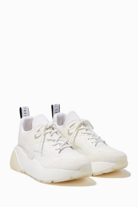 White Eclypse Lace-Up Sneakers