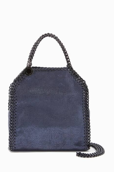 Navy Chamois Tiny Falabella Cross-Body Bag