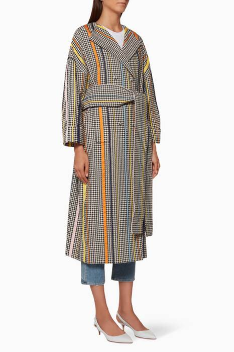 Multi-Coloured Oversized Sash Coat
