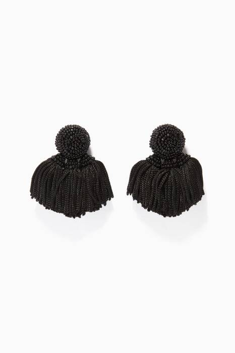 Black Mini Cha Cha Earrings