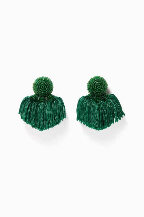 Green Mini Cha Cha Earrings