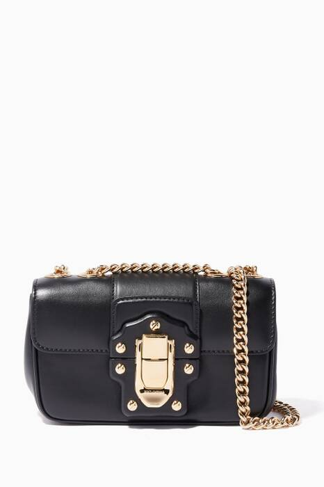 Black Mini Lucia Chain Shoulder Bag
