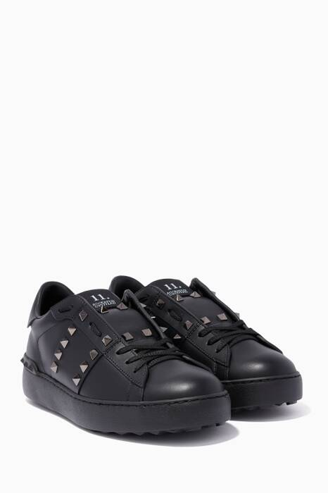 Black Rockstud Untitled Sneakers