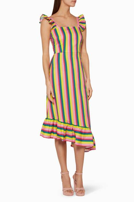 Multi-Coloured Striped Valentina Dress