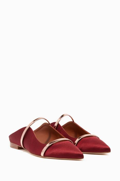 Wine Maureen Satin Flats