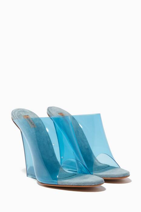 Blue Transparent PVC Wedges