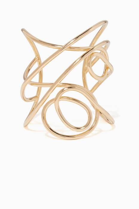 Gold Knot Statement Cuff