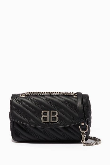 Black BB Round S Shoulder Bag