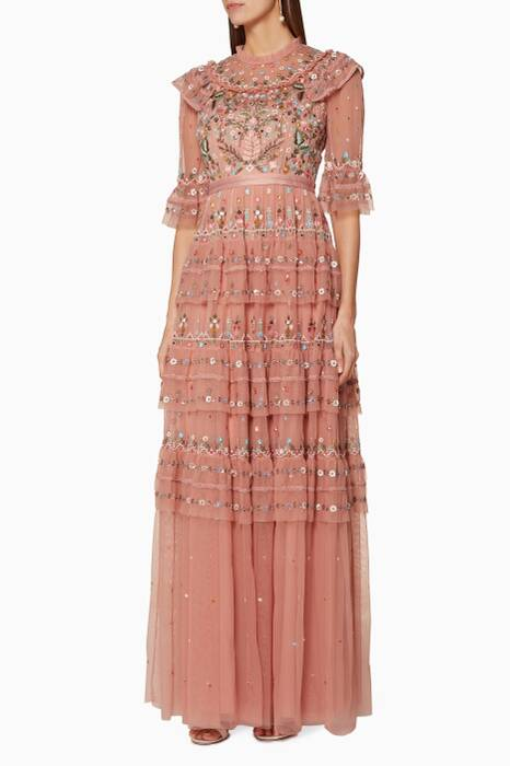 Vintage-Rose Embroidered Paradise Gown