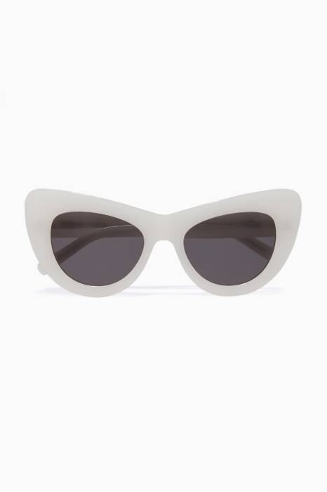 White Jan Sun Col. H Sunglasses